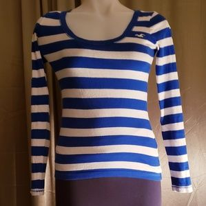 Hollister Striped Long Sleeve T Shirt. Size XS